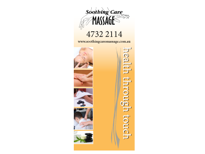 Soothing Care Massage - Pull Up Banner