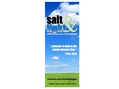 salt&light - Pull Up Banner